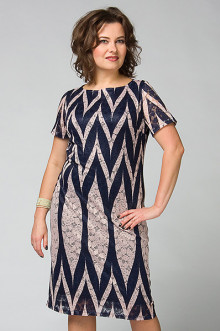 """Платье """"СКС"""" 2990 (Синий/розовый)"""