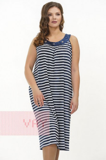 Платье женское 3302 Фемина (Полоска варенка темно-синий/варенка темно-синий)