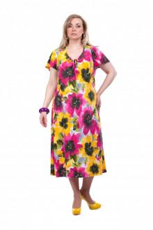 """Платье """"Олси"""" 1505029 ОЛСИ (Цветы яркие)"""